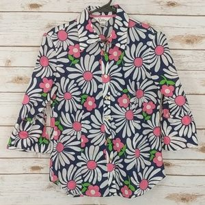 Lilly Pulitzer Floral Button Up Shirt Size 6